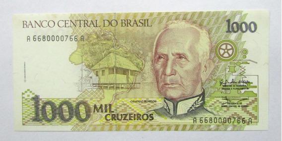Brasil Billete 1000 Cruzeiros 1990 Pick 231 Unc Sin Circular
