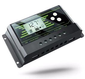 Controlador De Carga Solar 20a Painéis Regulador Usb