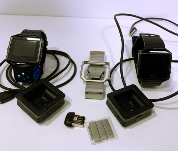 2x Fitbit Blaze | 3 Pulseiras | Smartwatch | L/g | Usados