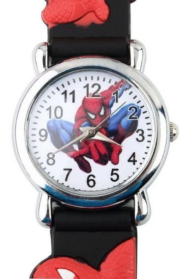 2 Relógios De Pulso Infantil Herói Homem Aranha Unissex