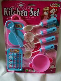 Set De Cocina De Juguetes Para Niñas Kitchen Set