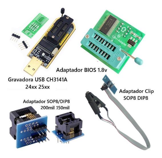 Gravador + Adaptador Sop8/dip8 Clip + 150mil 200mil + 1.8v