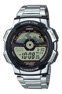 Reloj Hombre Casio Ae-1100wd Digital Plateado / Lhua Store