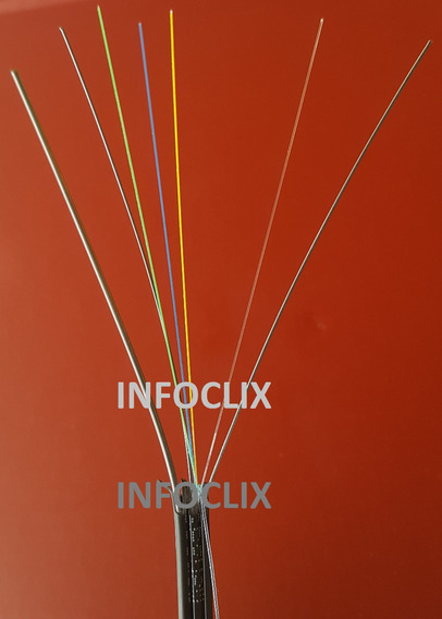 Cabo Fibra Óptica Drop 4fo 1000m Mensageiro Monomodo Clix