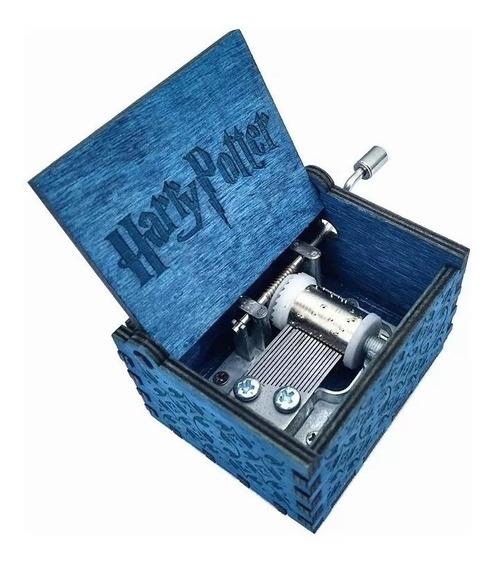 Caixinha Caixa De Musica Harry Potter(manivela) Azul