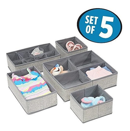 Mdesign Fabric Baby Nursery Closet Organizador Para Ropa Toa