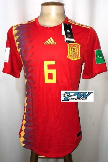 Camisa Espanha Copa Do Mundo 2018 #6 Iniesta