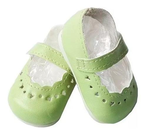Witty Girls Guillerminas Verdes Calzado Muñecas 45 Cm/18p