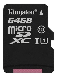 Tarjeta de memoria Kingston SDCS Canvas Select con adaptador SD 64GB
