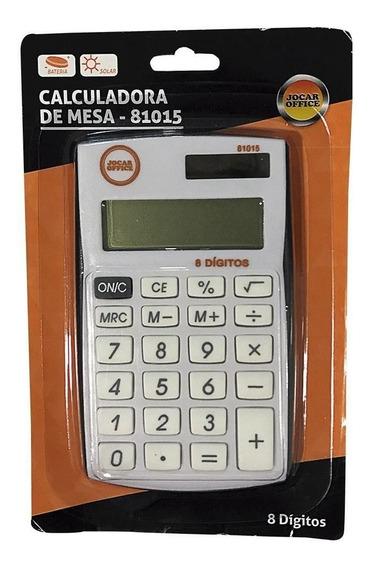 Calculadora De Mesa 8 Dígitos Jocar Office- Kit C/7 Unidades