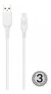 Cabo Lightning Iwill Hard Tpe 1.2m Mfi Chip Apple - Branco