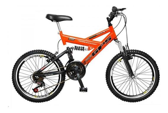 Bicicleta Colli Aro 20 Dupla Suspensão 36 Raias 21 Marchas