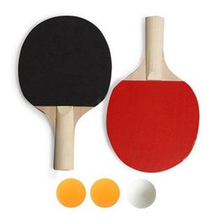 Set Ping Pong Tenis De Mesa 2 Paletas 3 Pelotas Ramos Mejia