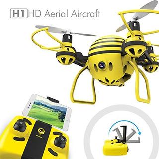 Hasakee H1 Fpv Rc Aviones No Tripulados Con Hd Vídeo En Dire