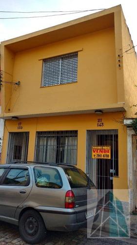 2 Residências À Venda, 140 M² Por R$ 600.000 - Tatuapé - São Paulo/sp - So0005