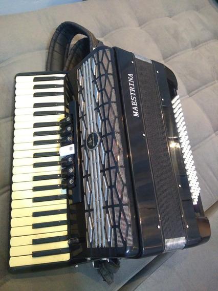 Acordeon Maestrina 120 Baixos Afinada Aceito Piano Digital