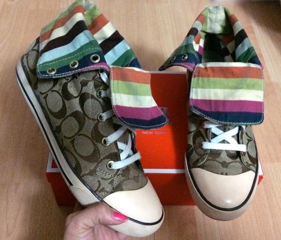 Tenis Coach Bonney Signature Colorized Stripes Boot!!