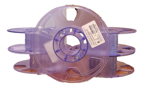 5 Carretel Virgem P- Enrolar 1kg De Filamento 3d Fio Abs Pla