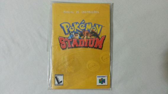 Manual De Instruções Original Pokemon Stadium