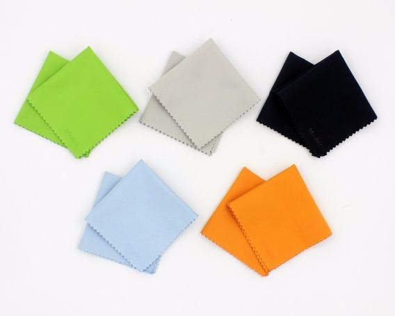 Kit 5 Panos (lenços) Microfibra P/limpeza Lcd/lente 13x13cm
