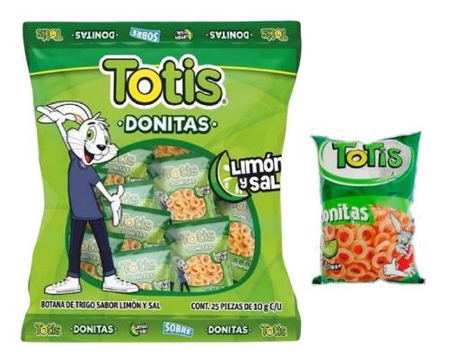 Imagen 1 de 2 de Totis Donitas Sal Y Limón 25 Pzas