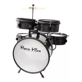 Bateria Musical Infantil Rmv Rock Kids Cor Preto