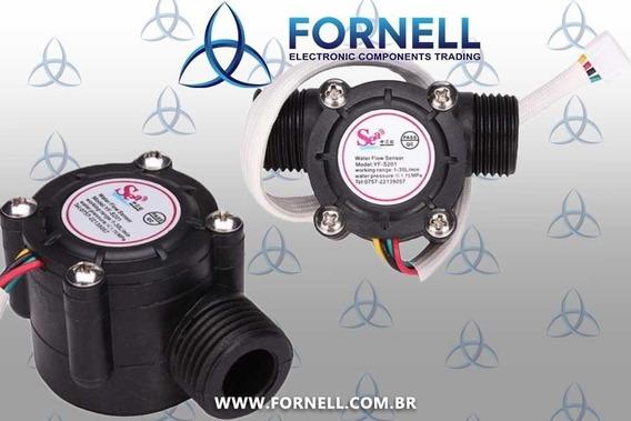 Sensor De Fluxo De Água Yf-s201 - 1/2