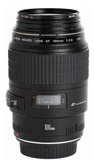 Lente Canon Ef 100mm F/2.8 Macro Usm Af Auto Foco Curitiba