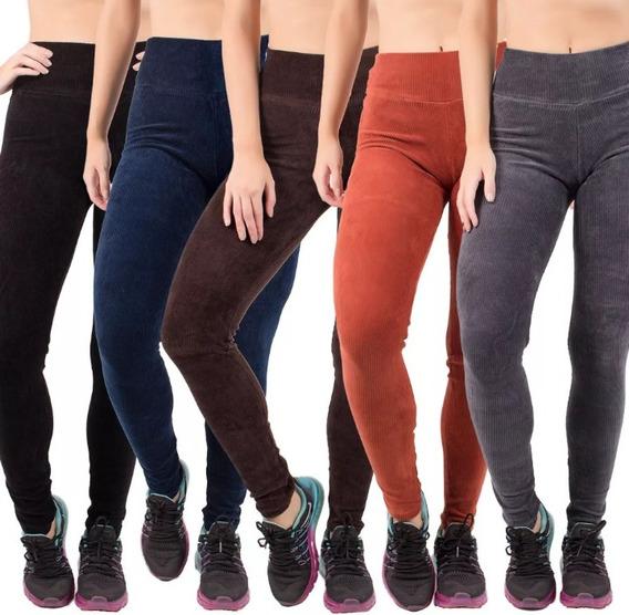 Kit 2 Leggings De Veludo Feminina .moda Outono E Inverno .