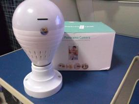 Câmera Lâmpada Led Wifi Ip Hd Panorâmica Espião 360