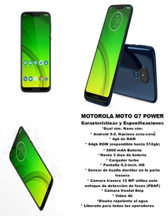 Motorola G7 Power 4gb Ram 64gb Rom 200v