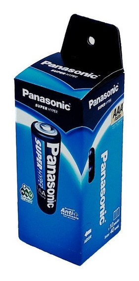 Pilha Palito Aaa 3a R03p Panasonic Caixa 40 Unid. Original