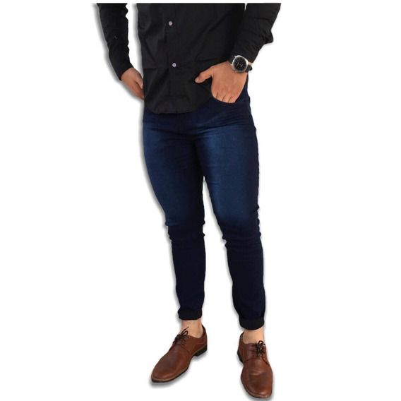 Pantalón De Hombre Skinny Fit Strech Entubado