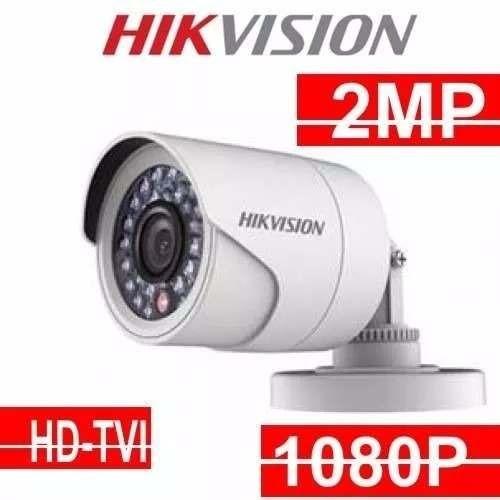 Camera Hikvision 1080p Bullet Hd Hd-tvi 2mp 2.8mm Ip66 Top