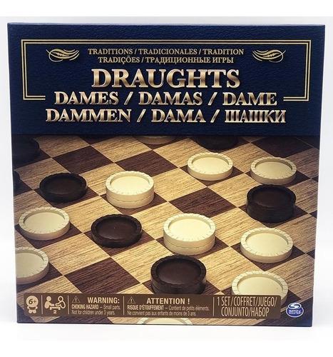 Juego De Damas En Caja Int 98375d Original Spin Master