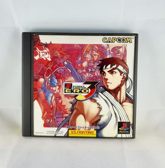 Playstation 1 Street Fighter Zero 3 Orig. Japonês Completo