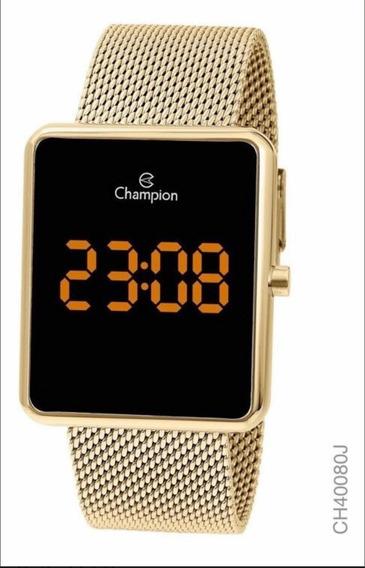 Relógio Champion Led Digital Lançamento Dourado