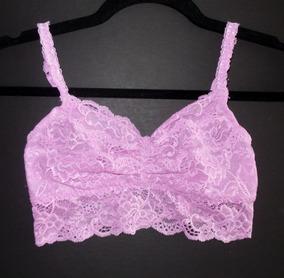 Victorias Secret Lencería Encaje Pink Bralette Lavanda S