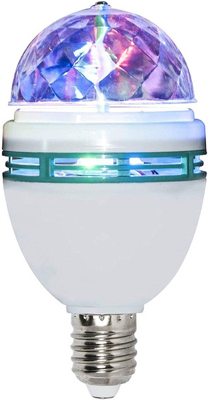 Foco Giratorio 3w Con Luces Led De Colores Megaluz Vl-001 Ba