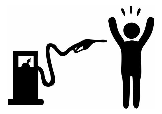 Kit Com 2 Adesivo Bomba De Combustível Gasolina Assaltando Para Carro, Moto, Automotivo, Rebaixado, Tuning E Notebook