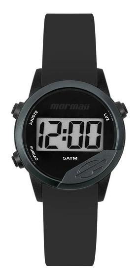 Relógio Mormaii Mude Unissex Digital Mo4100ab/8p Preto + 2 Pulseiras