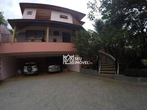 Casa Com 4 Dormitórios À Venda, 500 M² Por R$ 1.800.000,00 - Condomínio Jardim Theodora - Itu/sp - Ca2215