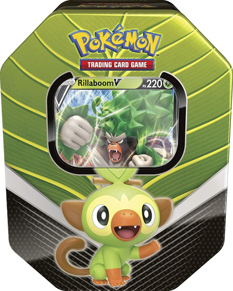 Lata Card Pokémon Rillaboom V Parceiros De Galar Carta Copag