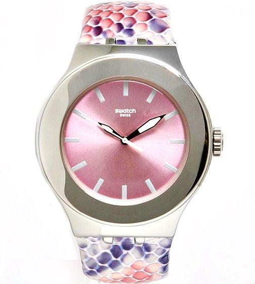 Relógio Feminino Swatch Irony Swiss Original Prata Couro