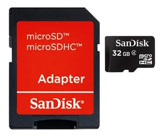 Cartão Memoria Micro Sd 32gb Adaptador Original Lacrado Nf