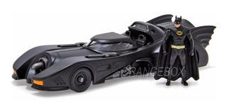 Batmóvel 1989 + Figura Batman (em Metal) Jada Toys 1:24