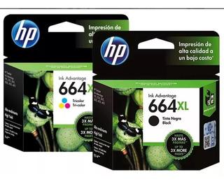 664 Xl Negro+ 664 Xl Color Combo Hp Original --oferta--