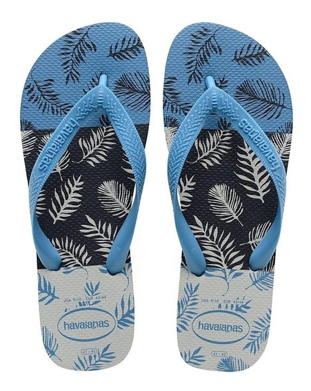 Ojotas Havaianas Aloha Originales Cinza Azul 39 Al 46 Hombr