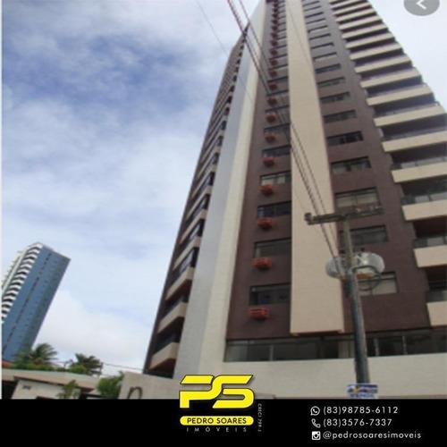Apartamento Com 4 Dormitórios À Venda, 181 M² Por R$ 549.000 - Miramar - João Pessoa/pb - Ap3622