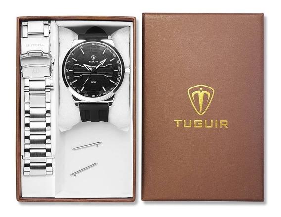 Relógio Masculino Original Tuguir 105 - Duas Pulseiras -3atm